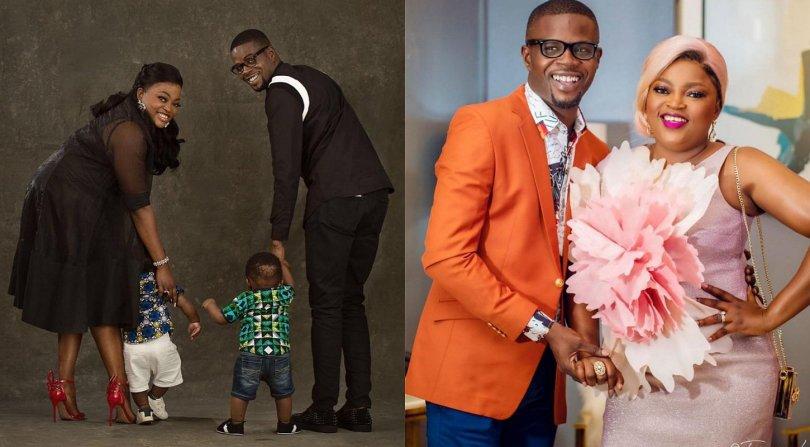 Funke Akindele and her husband JJC Skillz share adorable photos of their twin boys