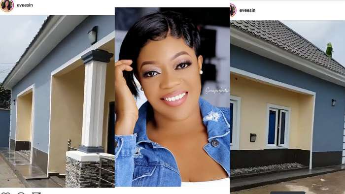 Actress, Eve Esin reveals her newly built house, dedicates it to her late mom, Mary Esin