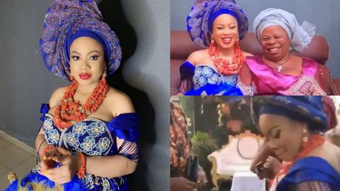 BBNaija star, Nina Ivy traditionally ties the knot with fiancé, Tony Anoliefo