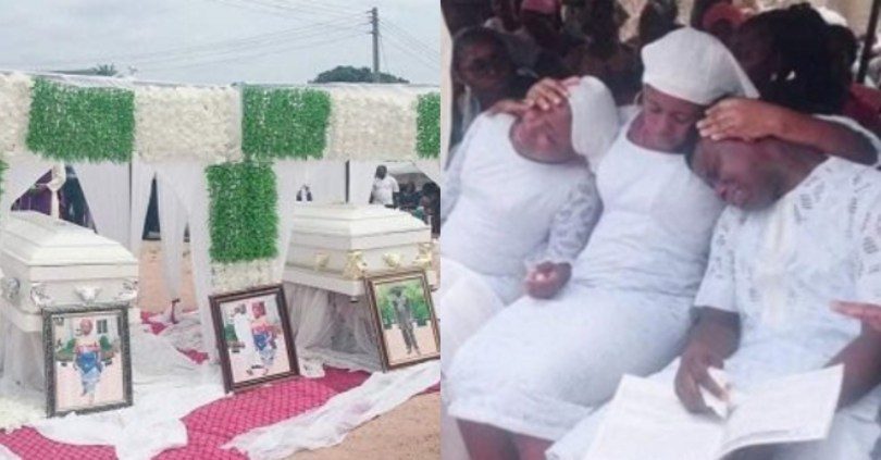 Photos from the funeral of couple killed in the presence of their three children in Umuahia