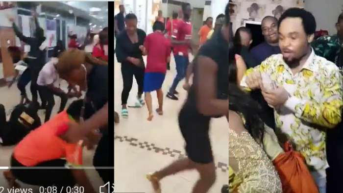 Prophet Odumeje seen at Polo Park Mall Enugu throwing money to stampede of crowd