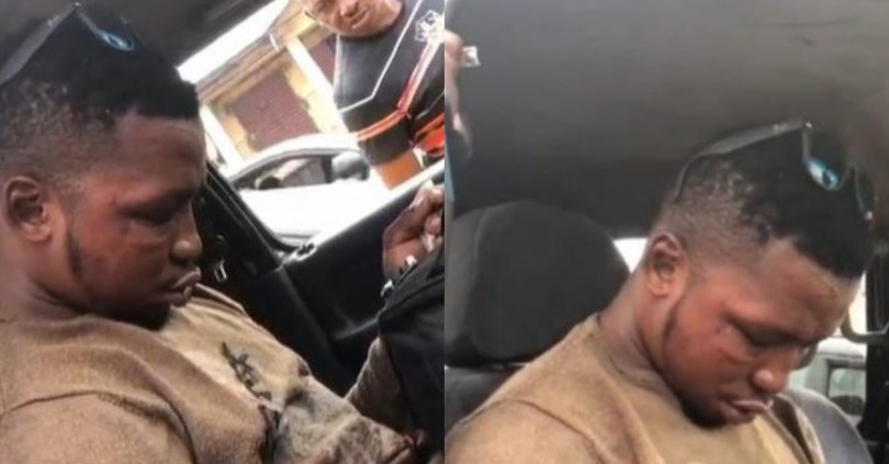 Drama As Sleeping Passenger Refuses Waking Up At Last Bus Stop Even After Receiving Thunderous Slaps