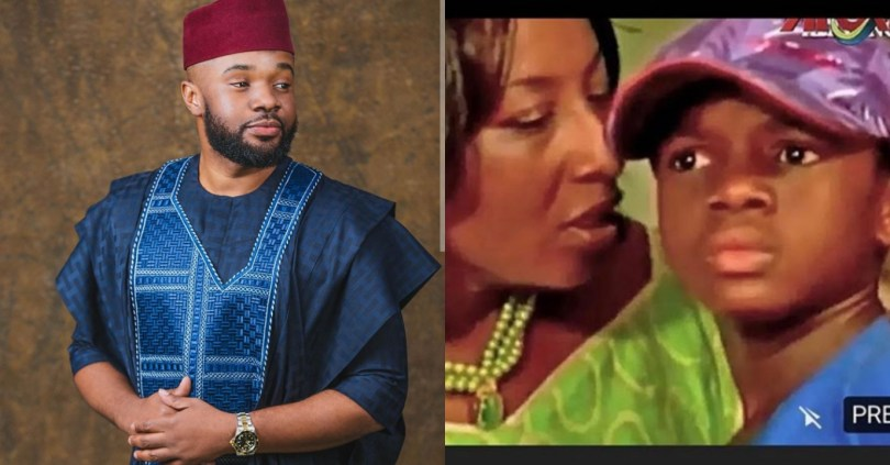 Fans react as actor, Williams Uchemba shares throwback photo of him and Patience Ozokwor on stage
