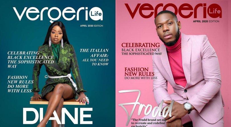 BBNaija stars, Diane and Frodd decorate front cover of Vergeria Life Magazine