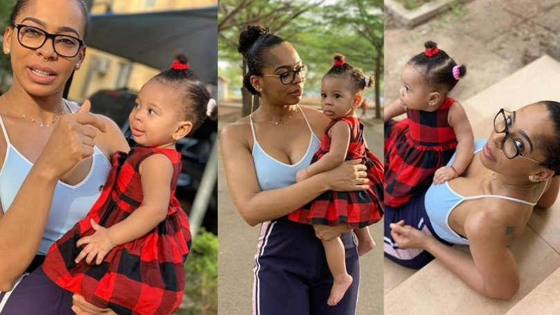 BBNaija's T-Boss and daughter send Easter love to fans