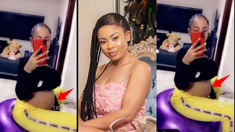 BBNaija Nina Ivy finally shows off her baby bump, sets to reveal her child's gender