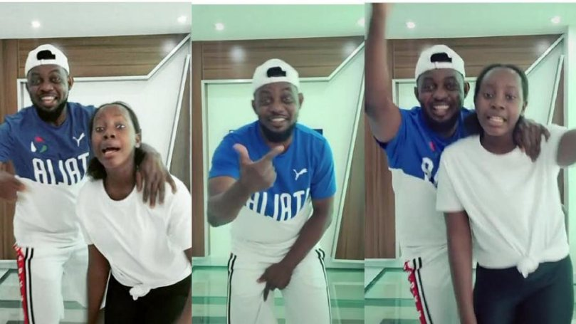 Comedian, AY and daughter, Michelle melt hearts in their 'Groove At Home' Challenge video
