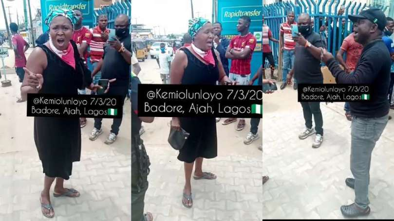 Journalist Kemi Olunloyo clashes with SARS officers in Lagos (video)