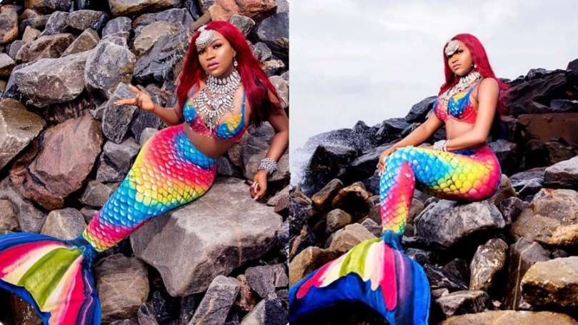 BBNaija's Thelma stuns in mermaid costume as she turns new age
