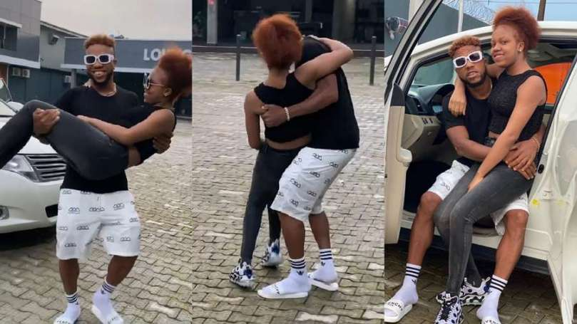 'Your daughter don ripe oo' – Fans react to video of actor Igwe 2pac playing with his daughter