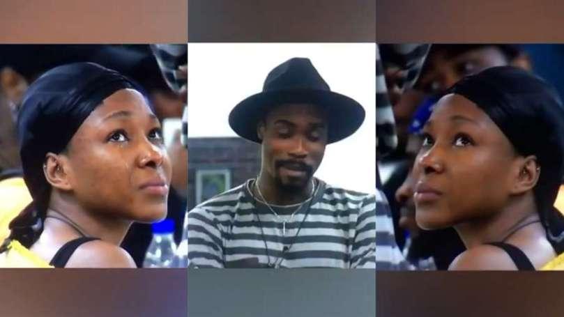 BBNaija: Moment Vee goes teary listening to Neo's birthday message (video)