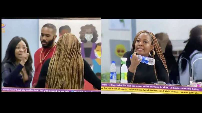 BBNaija: Lucy refuses being grouped with Kiddwaya and Erica in a task, initiates fight
