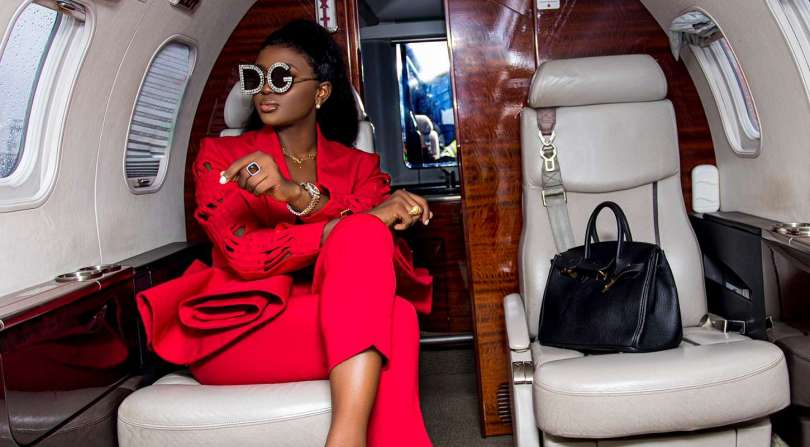 BBNaija: Evicted Housemate Ka3na jets in style to PH City for homecoming