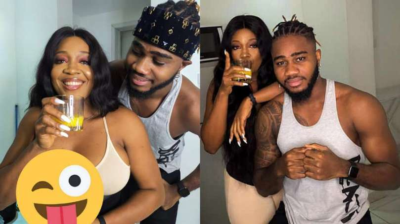 BBNaija: Lucy and Praise stir reactions with raunchy photos of them