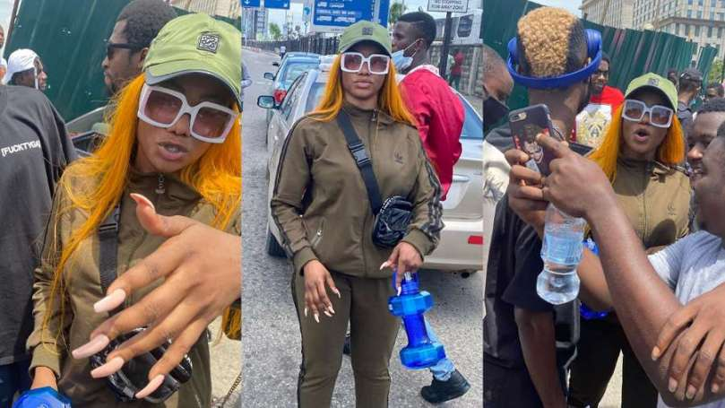 EndSARS: BBNaija's Tacha sends message to government (video)