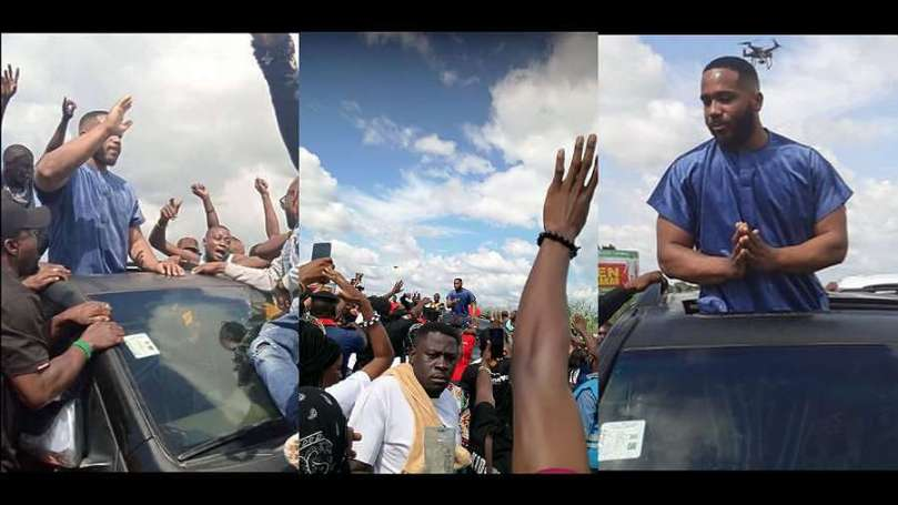 Benue youths block BBNaija's Kiddwaya from entering the State (video)