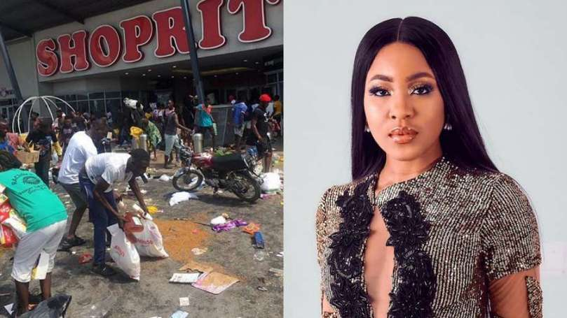 #EndSARS: BBNaija star Erica condemns looting by thugs disguised as protesters