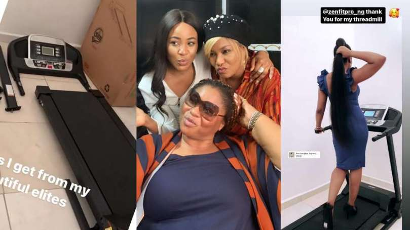 BBNaija Erica's fans leave her stunned with brand new Treadmill