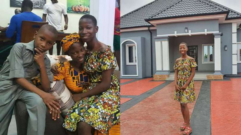Young comedienne Emanuella builds her mom a house