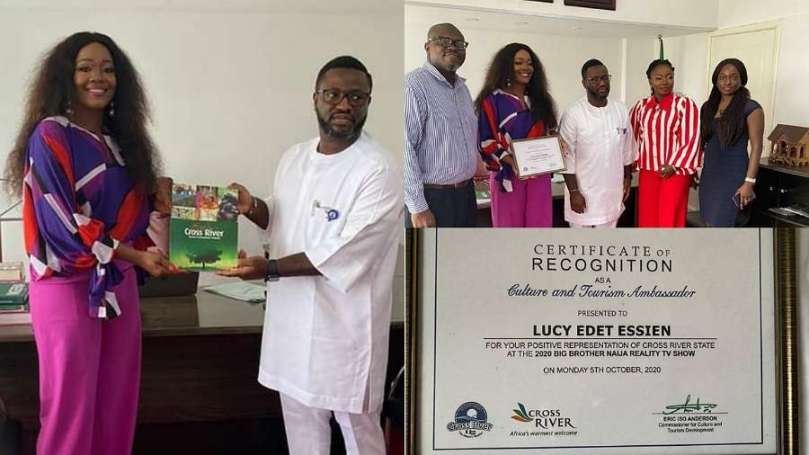 BBNaija star, Lucy unveiled as Cross Rivers State Culture and Tourism Ambassador