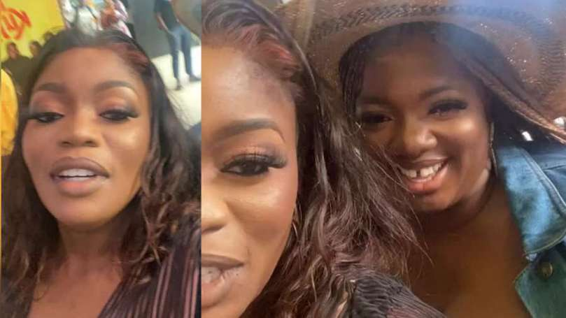 BBNaija star Bisola expresses so much love for Dorathy after meeting her for the first time (video)