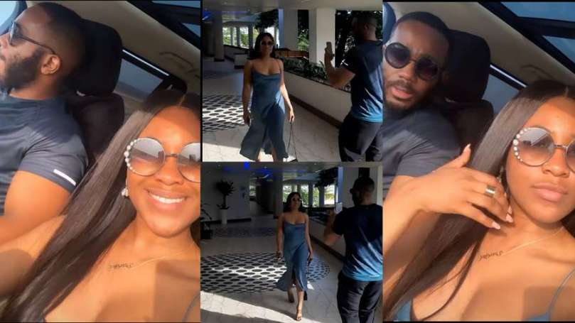 Adorable moment Kiddwaya was spotted making video of Erica (video)