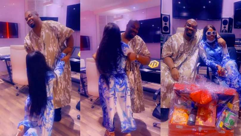 Watch breathtaking moment BBNaija's Ka3na knelt as she meets Don Jazzy for the first time