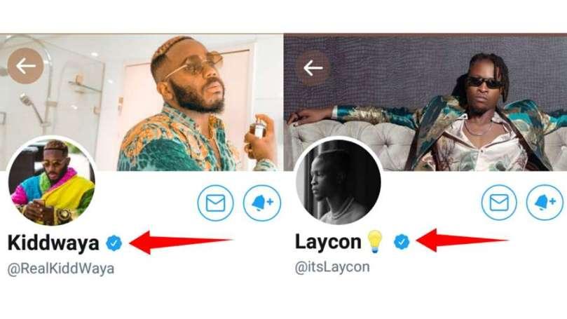BBNaija stars Laycon and Kiddwaya verified on Twitter