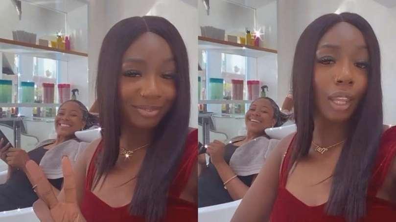 BBNaija stars Erica and her bestie, Tolanibaj finally link up (video)