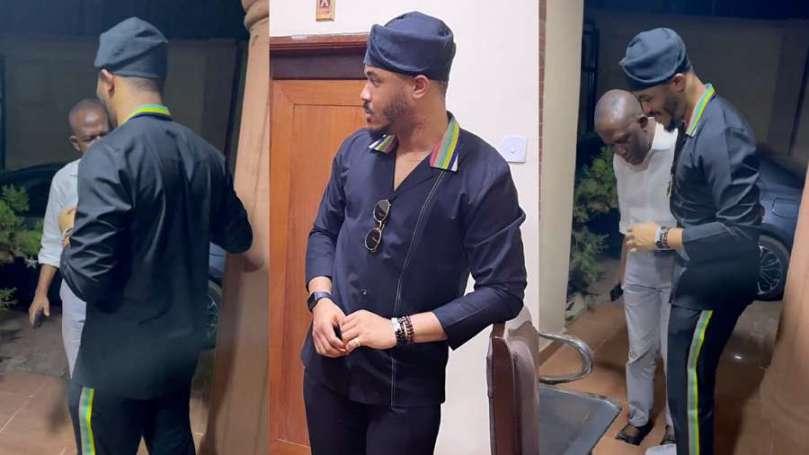 Watch the beautiful moment BBNaija Ozo's dad welcomed him in Enugu