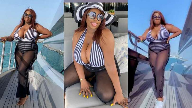 BBNaija's Dorathy really having nice vacation time with her full chest (video)