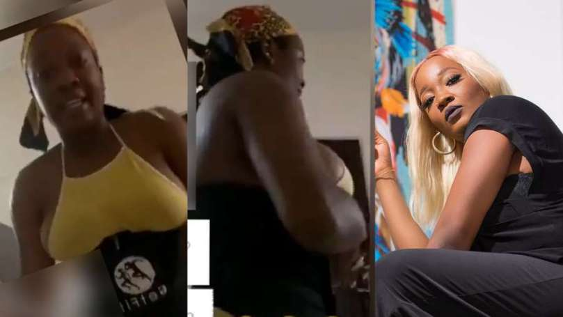 Fans drag BBNaija's Lucy after being spotted almost naked in kitchen via IG live (video)