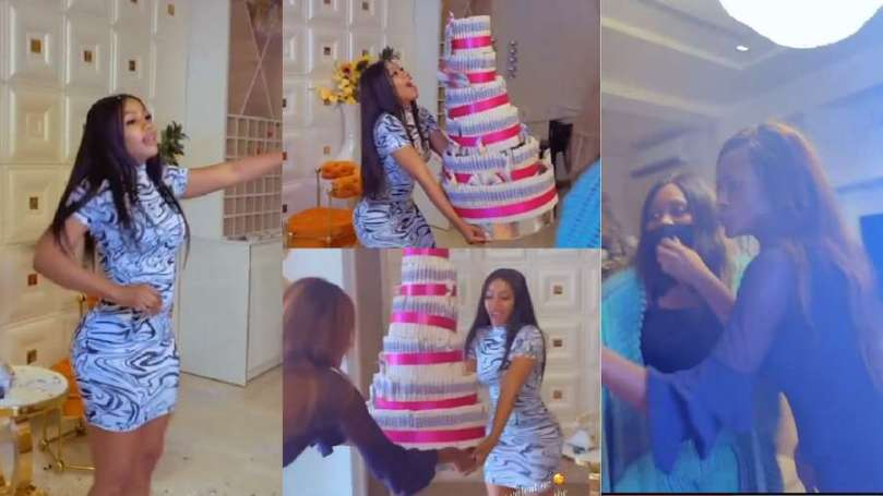 Six days after Valentine, Mercy Eke's fans storm her home with gifts (video)