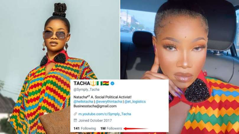 Tacha becomes first female BBNaija star to hit 1m Twitter followers
