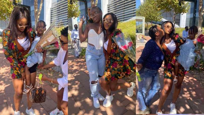 Excessive love from South African Titans to BBNaija's Tacha (photos)