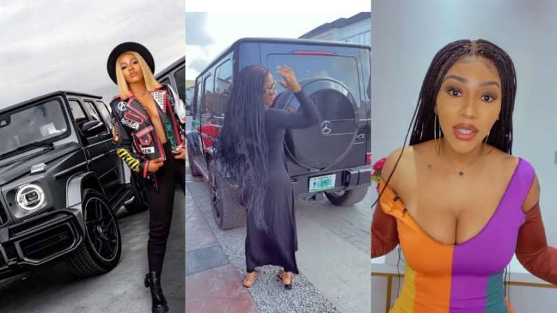 """""""She's not your mate"""" – BBNaija Mercy Eke's fans gush as she shows off her latest car"""