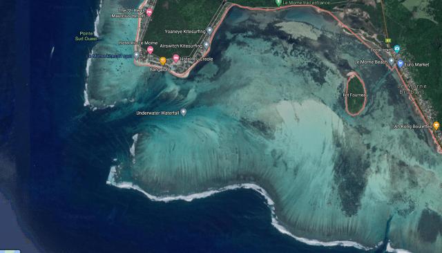 cascata sottomarina Mauritius Le Morne Brabant
