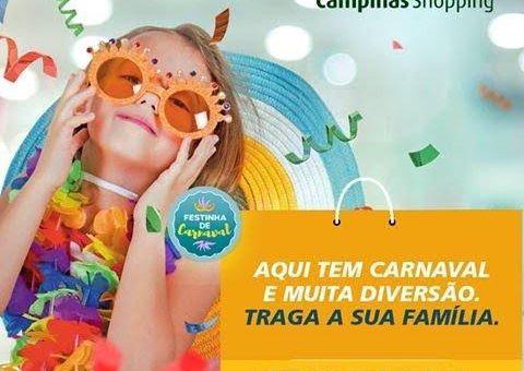 Programação especial e gratuita anima Carnaval no Campinas Shopping