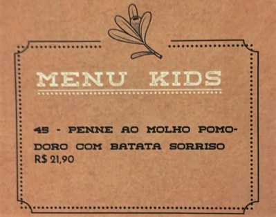 menu kids pizzaria tre amici valinhos