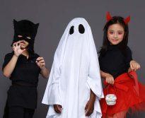 fantasias e maquiagem de halloween para crianças