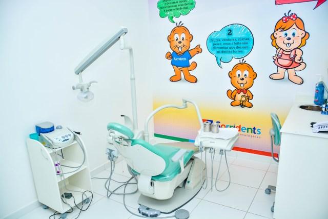 Consultório de odontologia infantil da Sorridents Valinhos