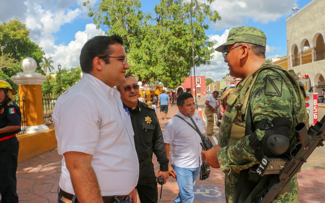 Simulacro interinstitucional antiterrorismo en el Palacio Municipal.
