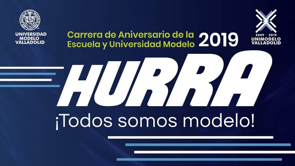 CARRERA DE ANIVERSARIO DE LA UNIVERSIDAD MODELO   VALLADOLID 2019
