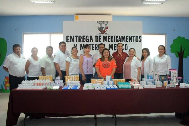 entrega medicamentos con programa reducción de sueldo, regidores Valladolid, Yucatán