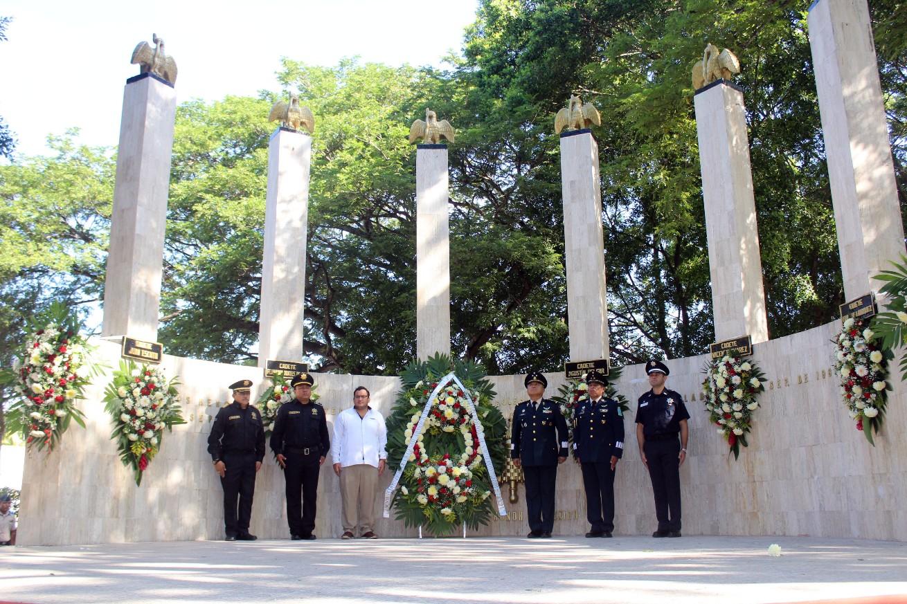 Conmemoran gesta heroica del 13 de septiembre en Chapultepec