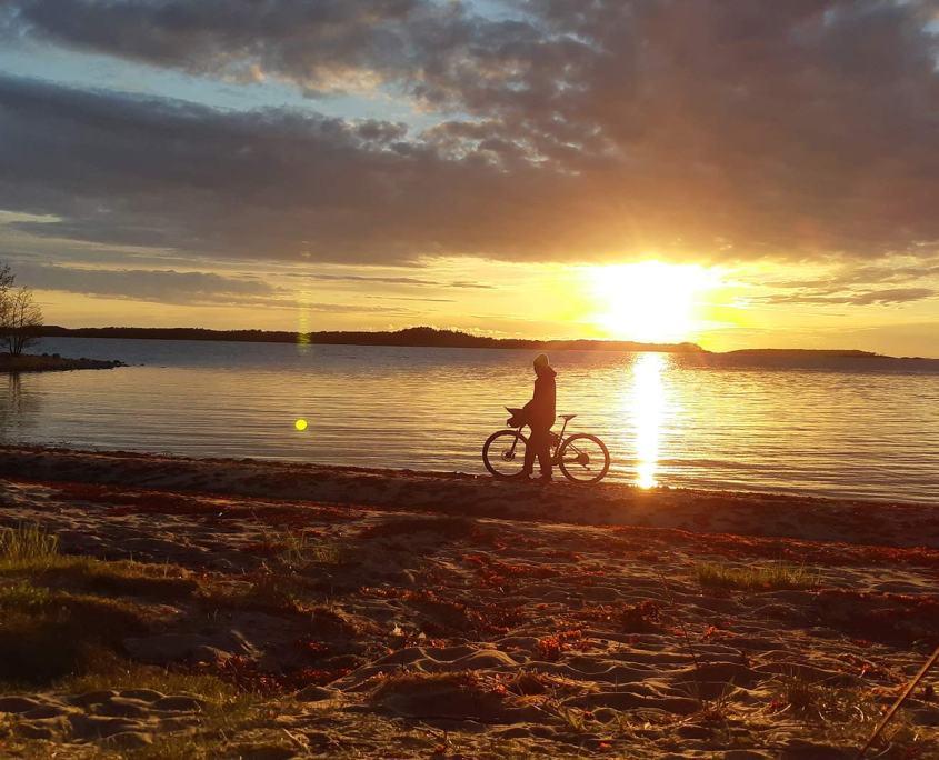 rannikkoreitti pyöräretki valla outdoors