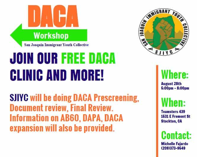 Stockton DACA workshop august 28 2015