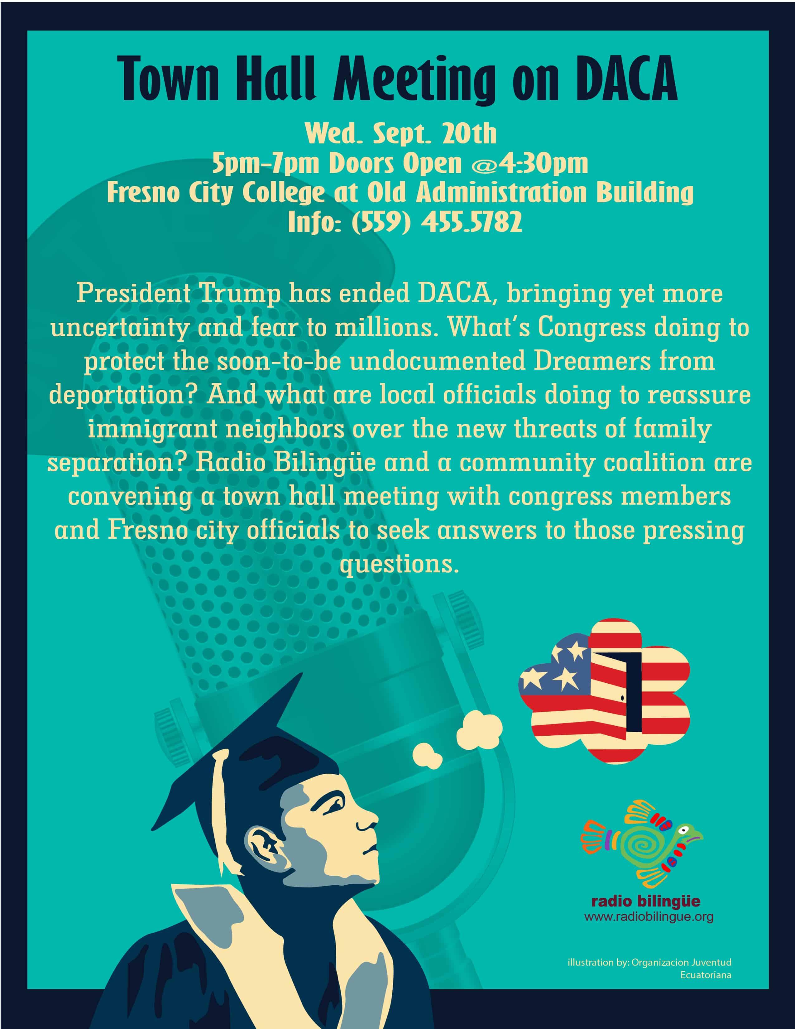 DACA town hall meeting in Fresno September 20, 2017