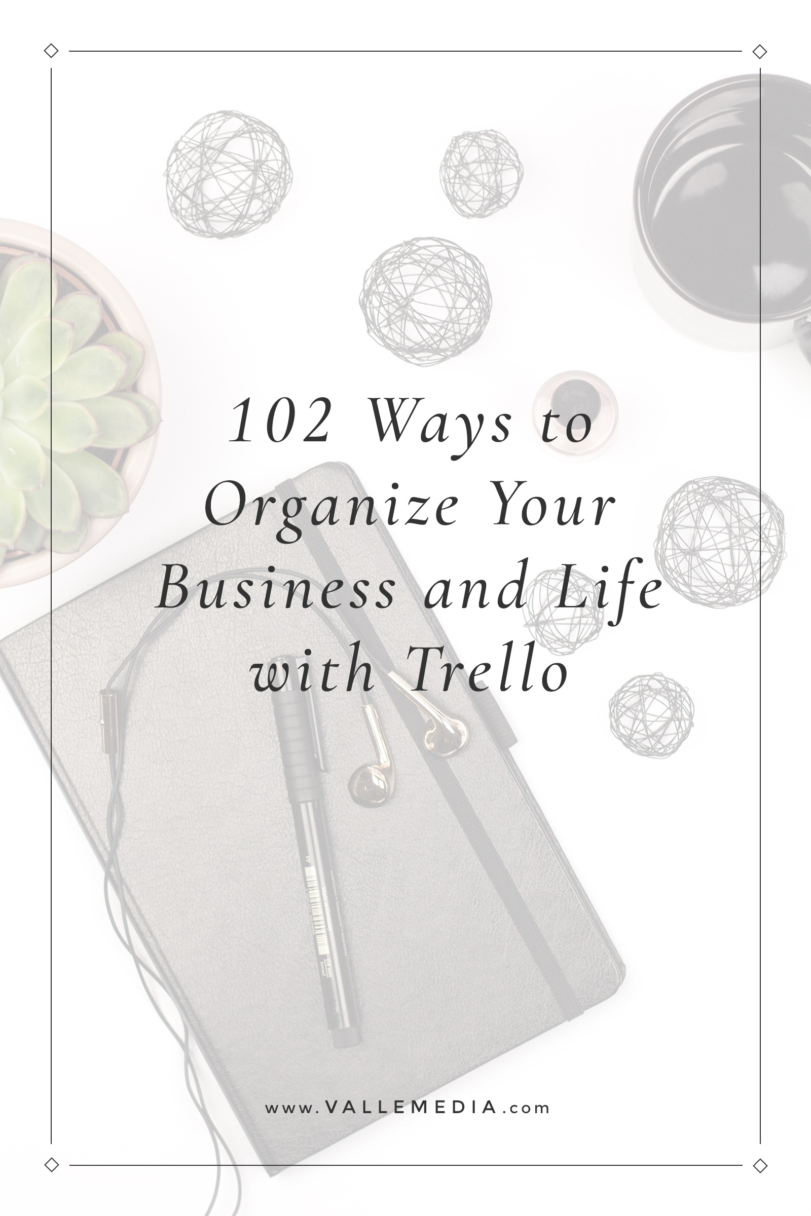 Between running a successful business and household, I need systems that work FOR me, not ones I'm stuck working in. Take a look at these 102 ways you can use Trello to organize, plan, and manage your business and life.