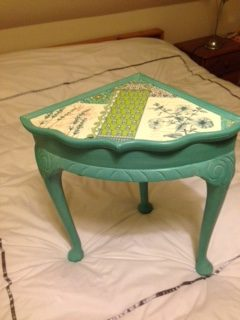 This little table I was asked to do for my niece by her sister in law for Christmas